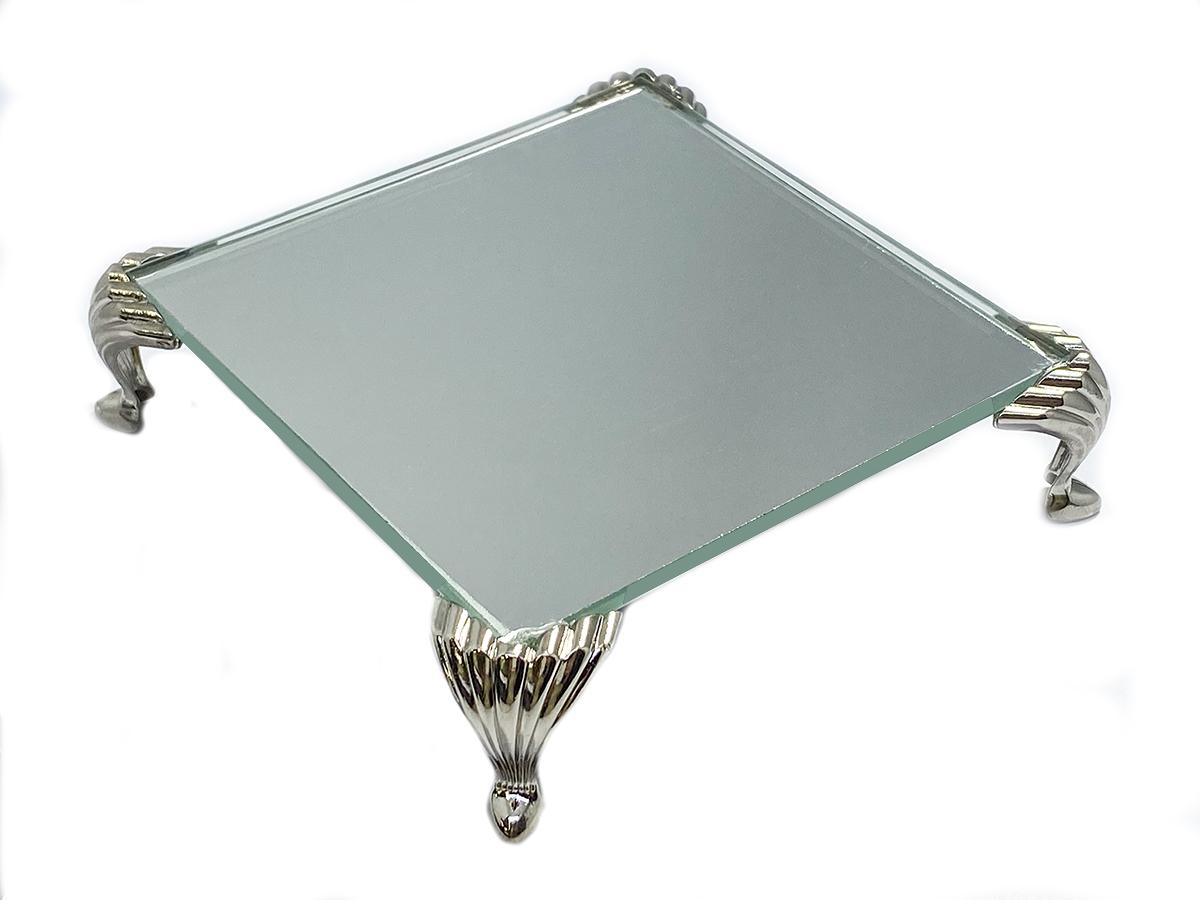 Bandeja Espelhada Itália Prata Luxo Lavabo 10x10