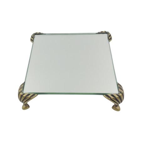Bandeja Espelhada Itália Ouro Velho 10x10