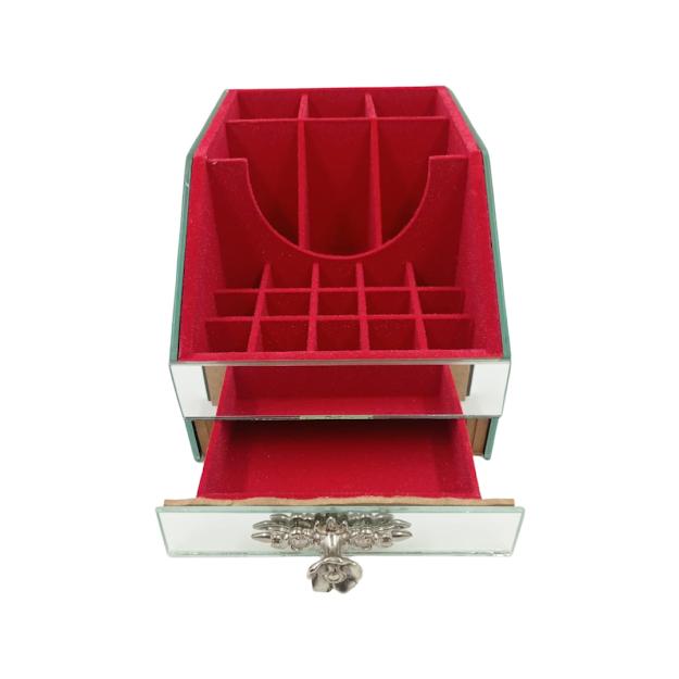 Porta Maquiagem Espelhada Luxo Vermelho P