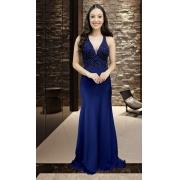 Vestido Azul Marinho Roma