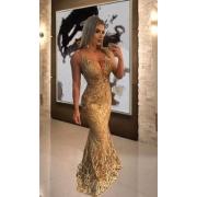 Vestido dourado Kelly