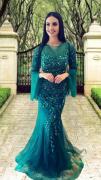 Vestido Verde Esmeralda Asti