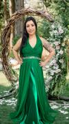 Vestido Verde Esmeralda Perugia