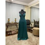 Vestido Verde Petróleo 527