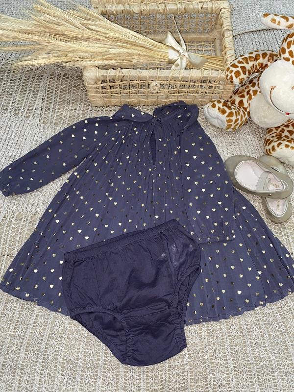 Vestido Azul Clarinha   -      Baby Gap          (Tamanho 6 meses)