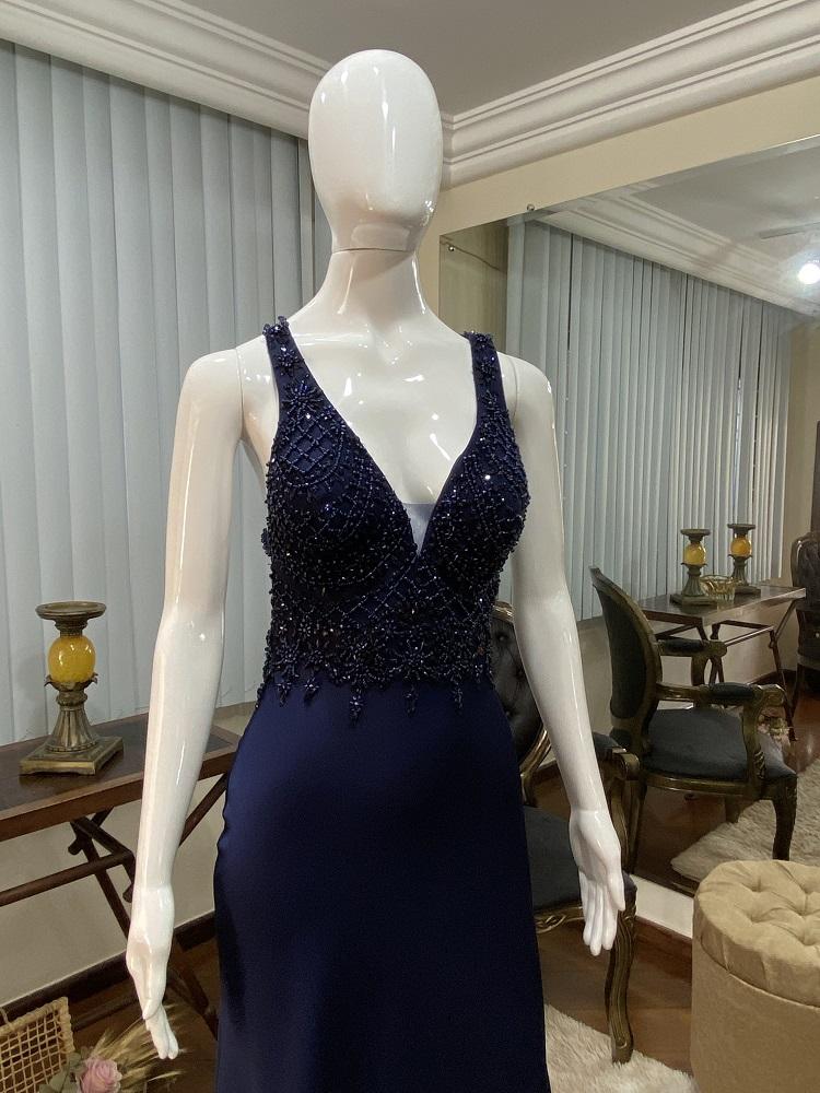 Vestido Azul Marinho 520