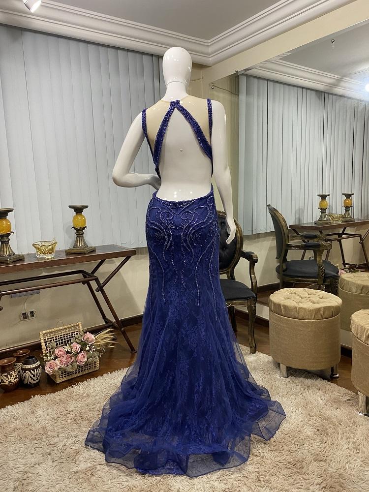 Vestido Azul Marinho 521