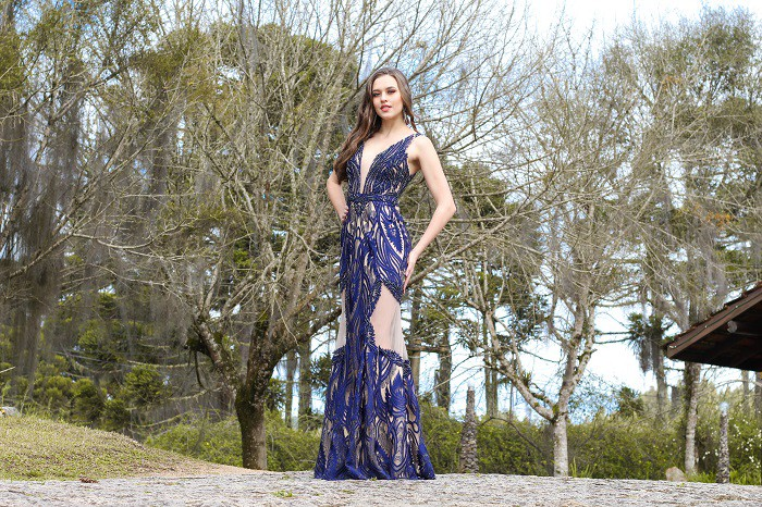 Vestido Azul Marinho Beatriz