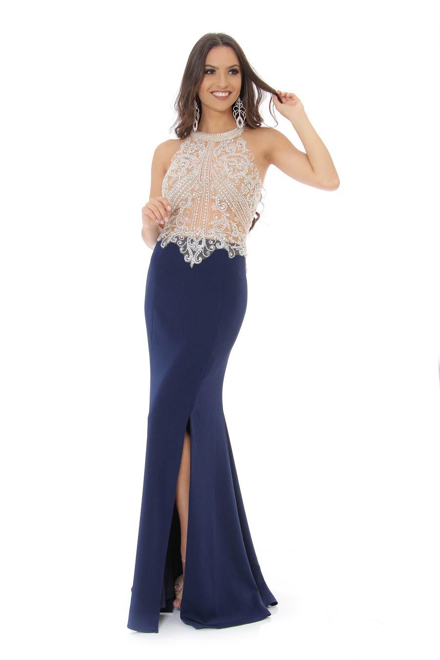 Vestido Azul Marinho Luna