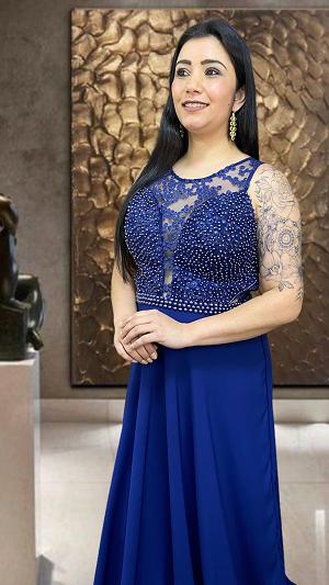 Vestido azul Marinho Milano