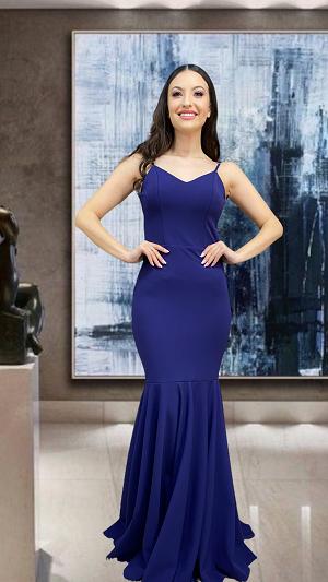 Vestido Azul Marinho Pisa