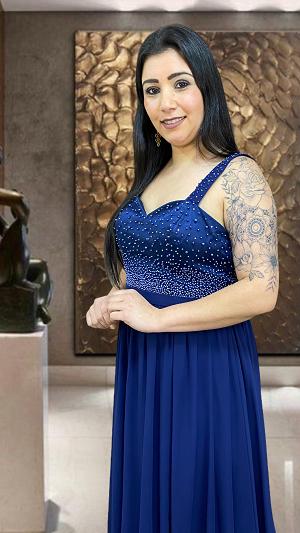 Vestido azul Marinho Torino