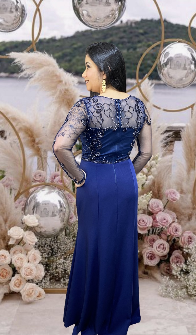 Vestido Azul Marinho Trapani
