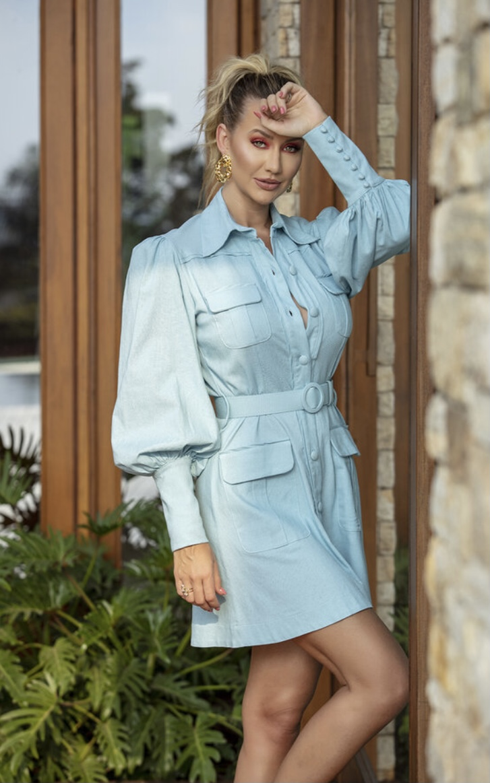 Vestido Azul Pilar
