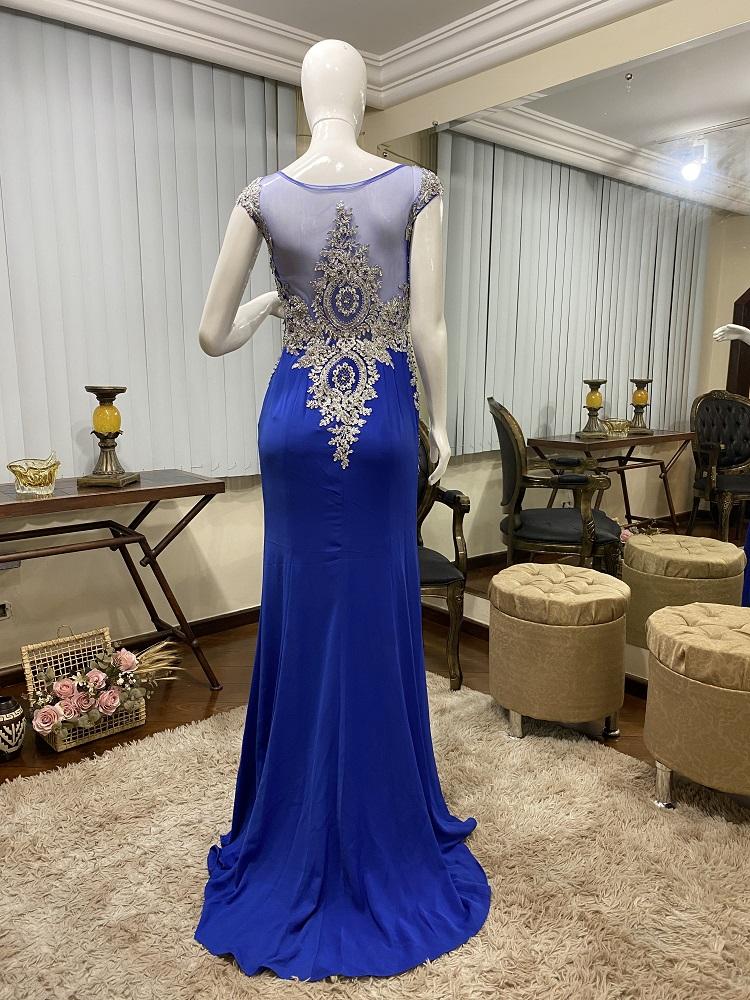 Vestido Azul Royal 529