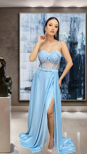 Vestido Azul Serenity Brindisi