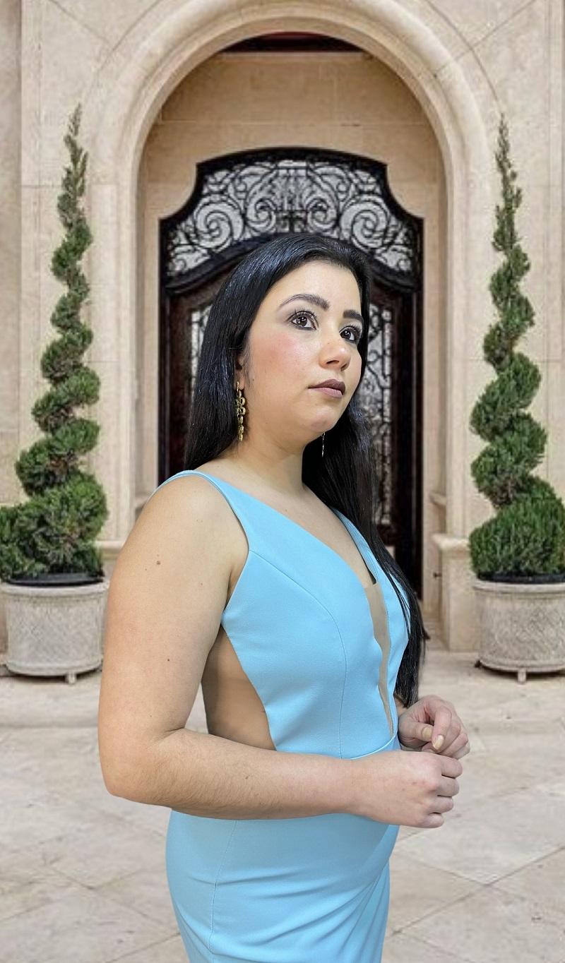 Vestido azul Tiffany Castella