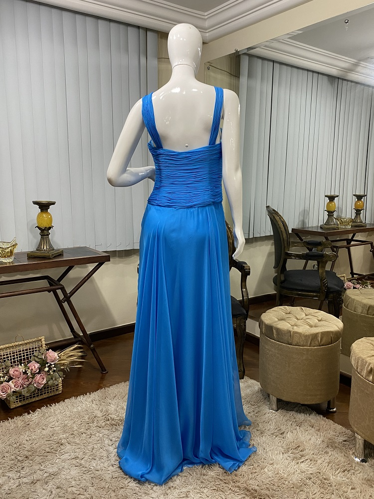 Vestido azul turquesa 543