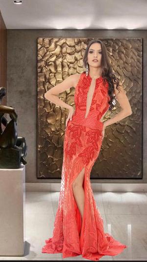 Vestido Coral Cecília