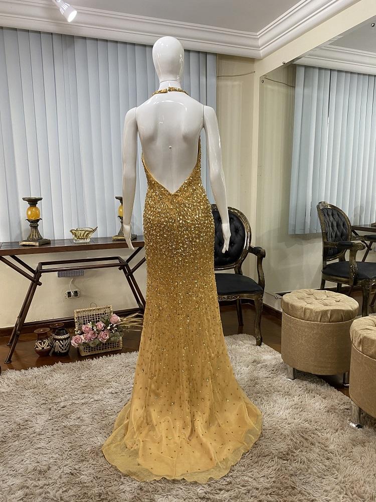 Vestido Dourado 530