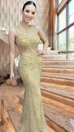 Vestido dourado Deyse