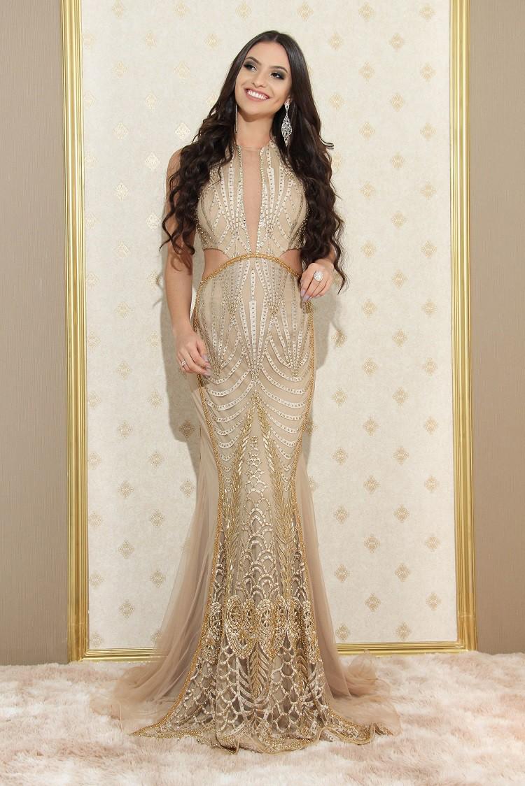 Vestido dourado Bergamo