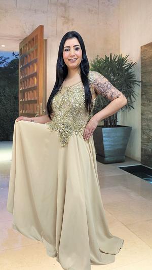 Vestido dourado Noyon