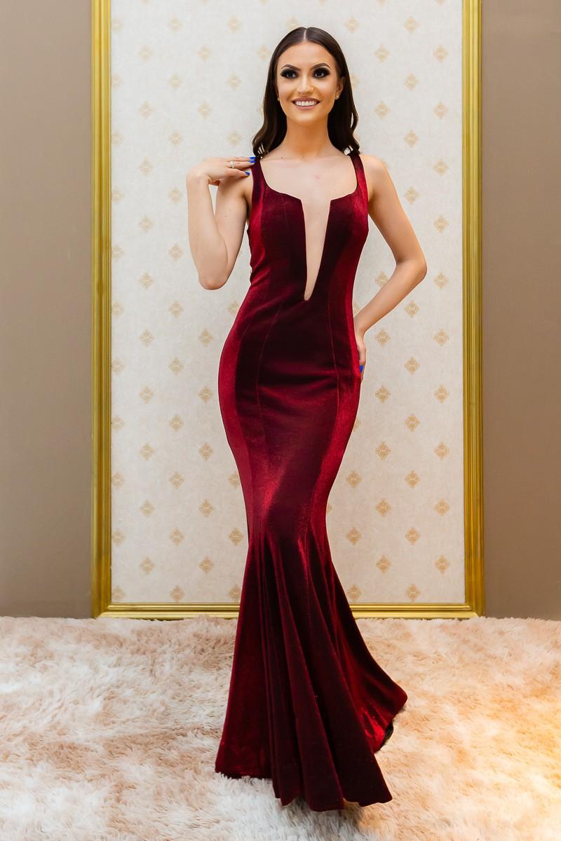 Vestido Marsala Elisa