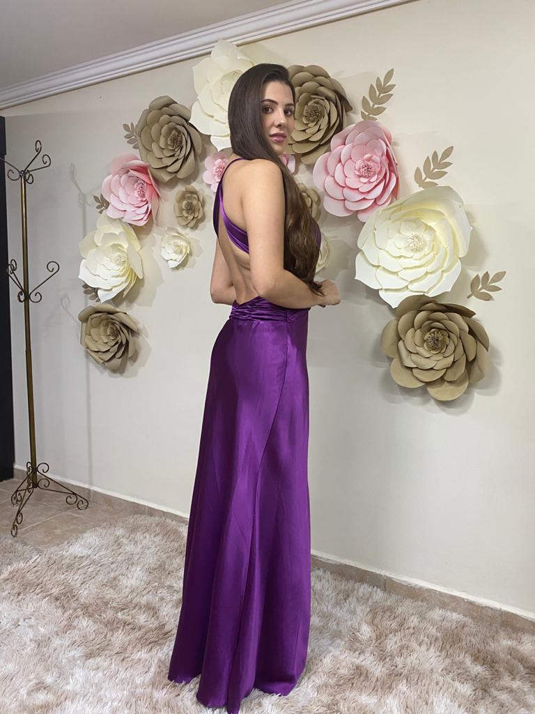 Vestido fucsia Lyon