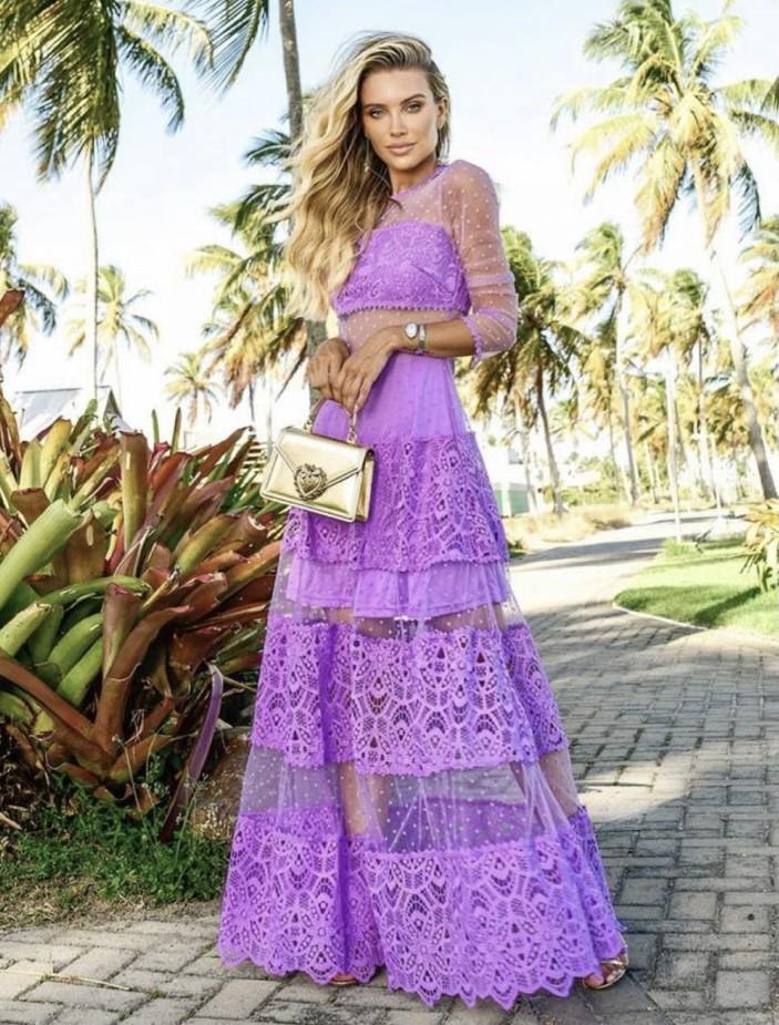 Vestido Lilás Amélia