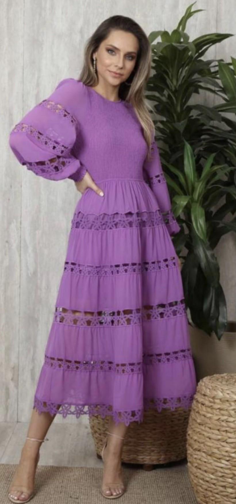 Vestido Lilás Babi