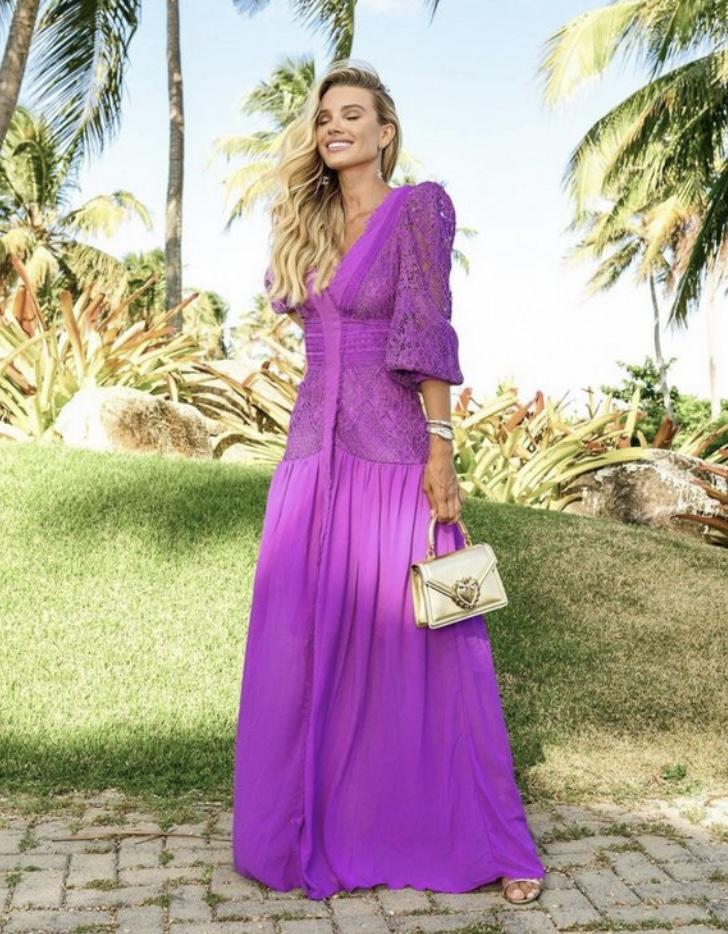 Vestido lilás Penélope