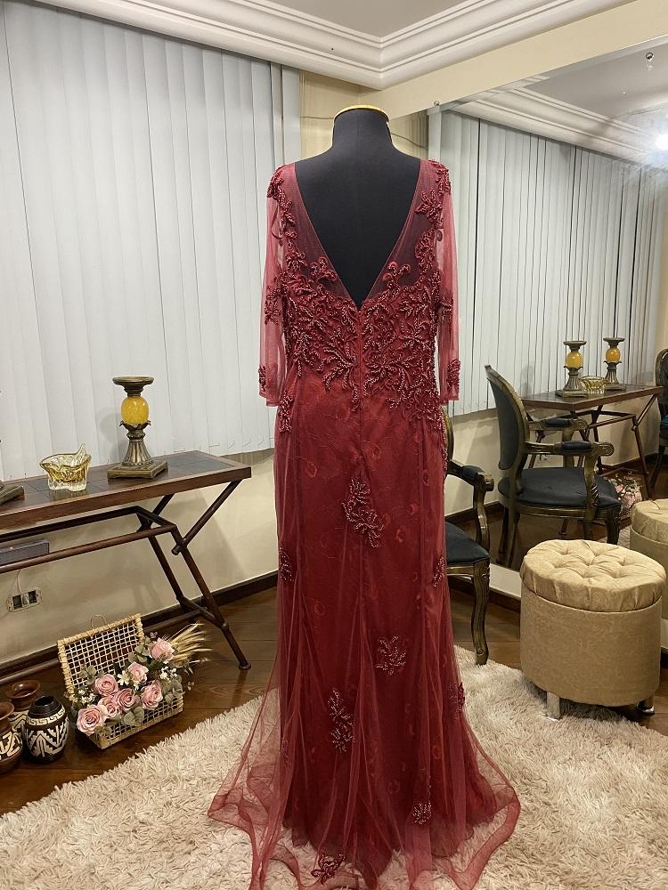 Vestido Marsala 509