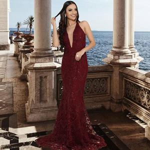 Vestido Marsala Isabella
