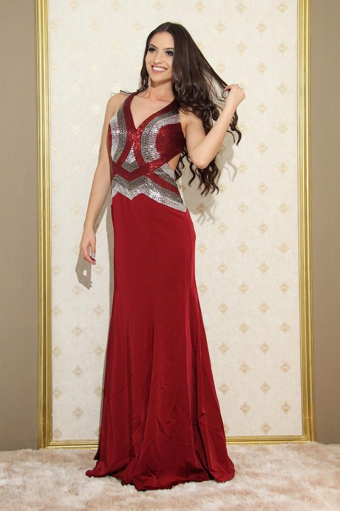 Vestido Marsala Julia