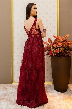 Vestido Marsala Mirella