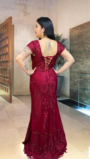 Vestido marsala Proença