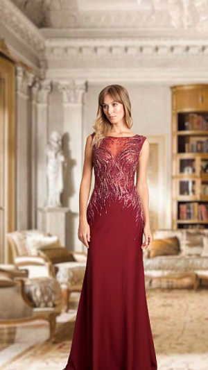 Vestido Marsala 117