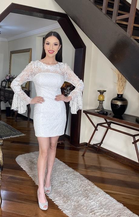 Vestido Off-white Monique