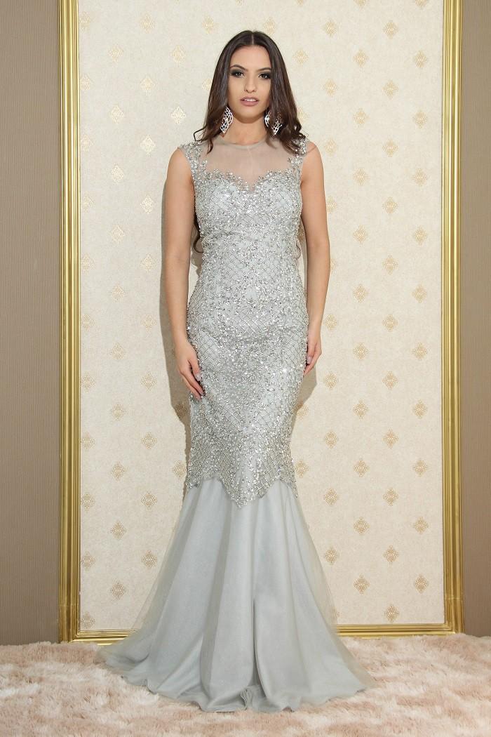 Vestido Prata Andrêa