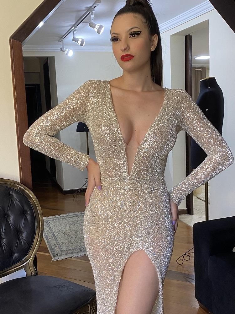 Vestido Prata  Marcela Sanches