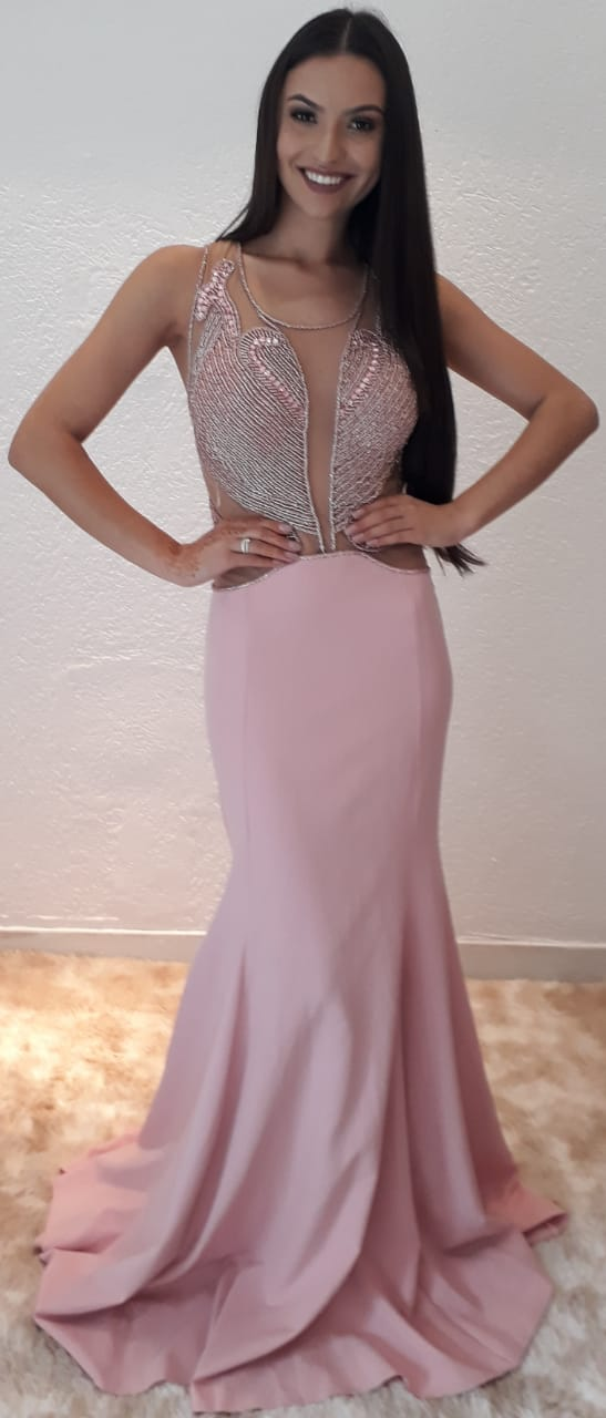 Vestido Rosa Caetana