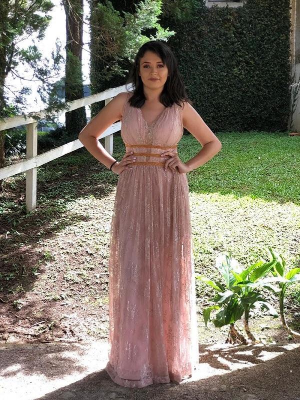 Vestido Rosa Linda