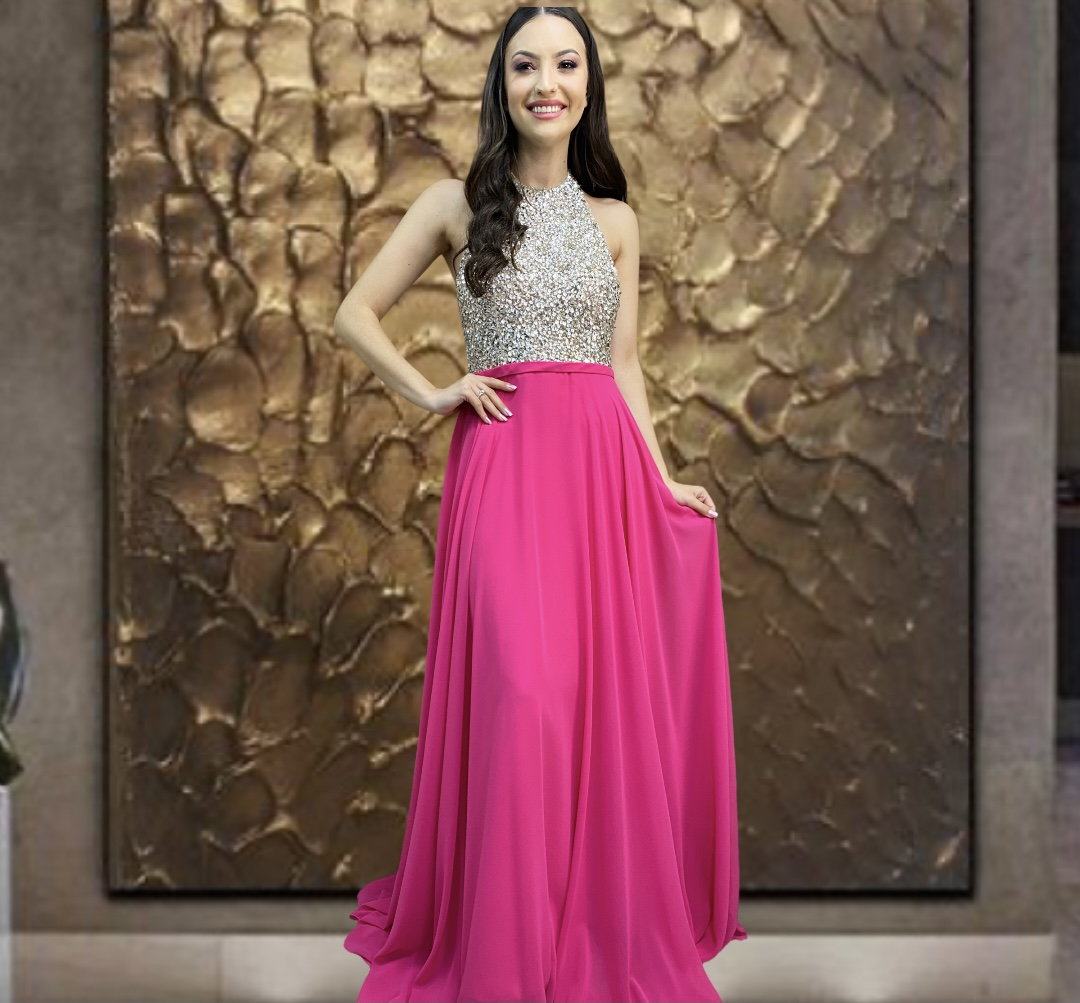 Vestido Rosa Modena