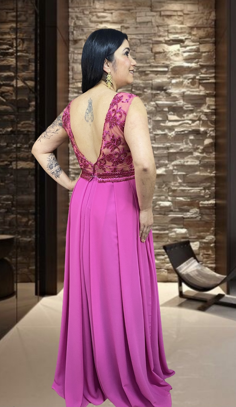Vestido Rosa Pink Calabria