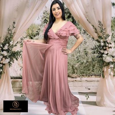 Vestido Rosé Gold Taranto