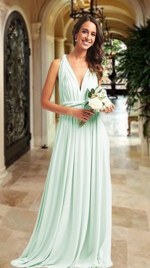 Vestido Verde Menta Piacenza