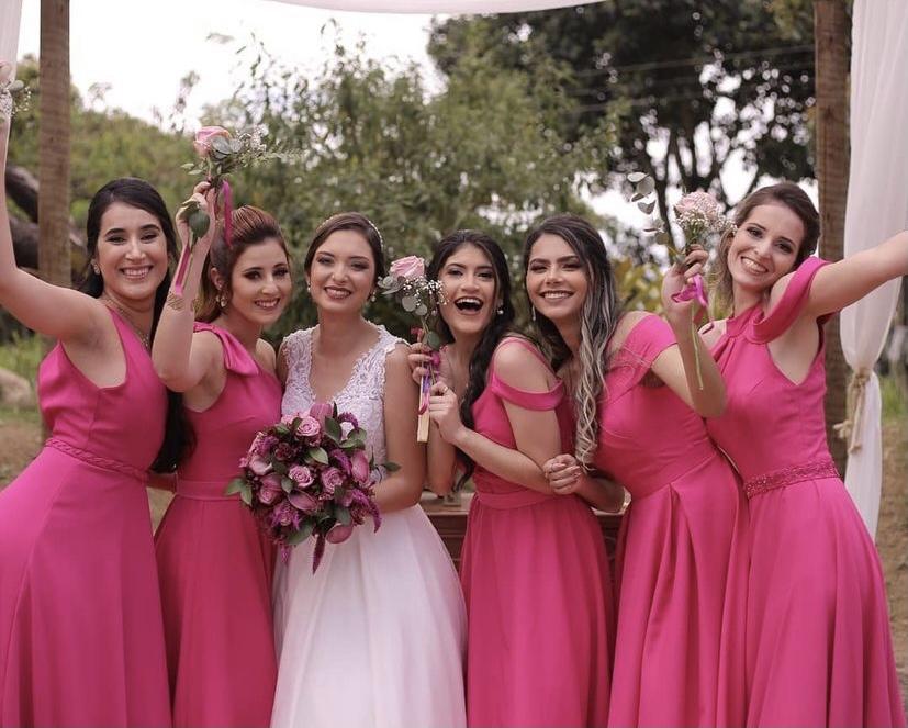 Vestido Rosa Pink Novara