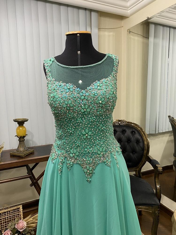 Vestido Verde Tiffany 524