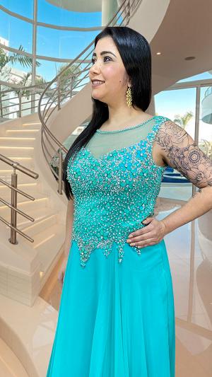 Vestido Verde Tiffany Viareggio